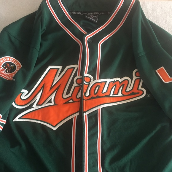 outlet store 3a428 c7293 University of Miami Baseball Jersey